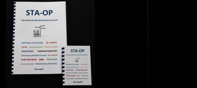 STA-OP informatiemap + minimap met tips voor het behoud van zelfredzaamheid